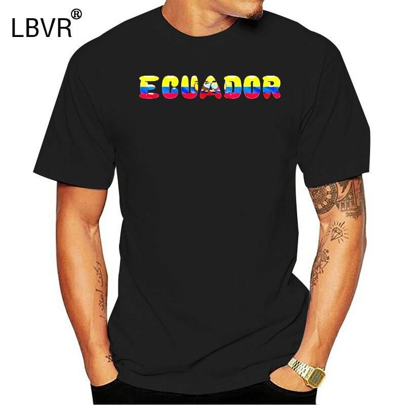 Camisetas de algodón de diseño fresco 3D, camiseta de Ecuador, camiseta de país, bandera nacional, camiseta divertida de novedad, camiseta de verano