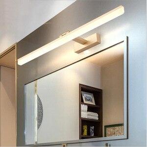 Светодиодный настенный светильник макияж зеркало спереди светильник светодиодный Ванная комната Светильник вращающийся современный потолочный светильник для Ванная комната Домашний декор Освещение в помещении светильник Инж