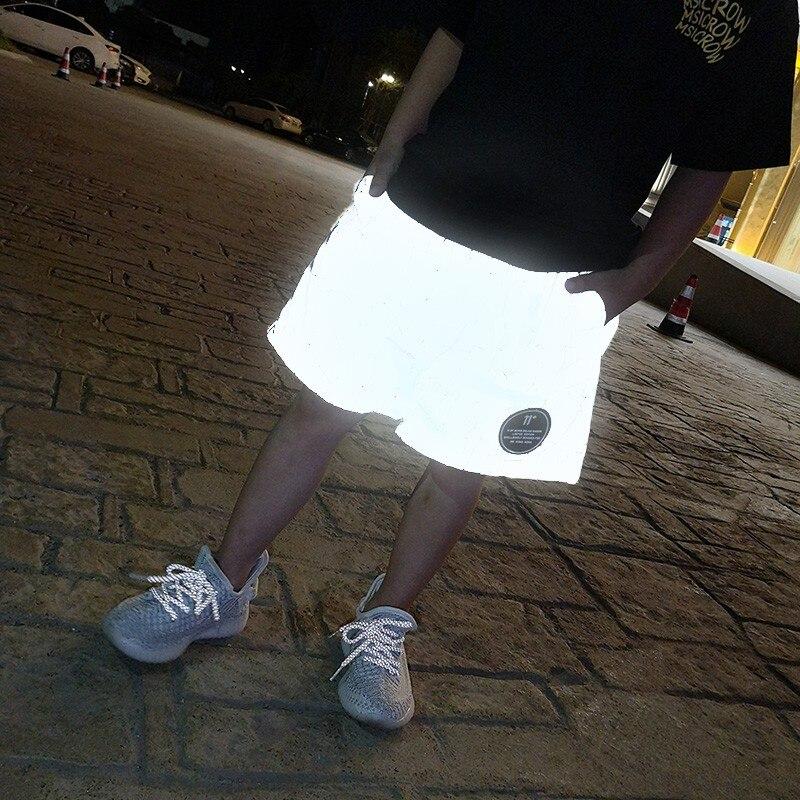 Pantalones reflectantes para niños, pantalones deportivos fluorescentes para bebés, pantalones cortos finos láser, ropa para niños, moda infantil