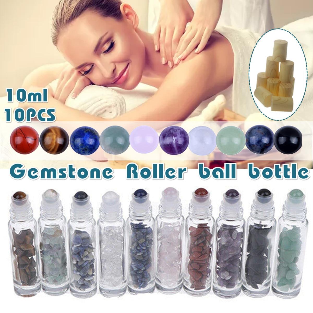 Botella Roller de 10 Uds. De bolas de aceite esencial de piedras...
