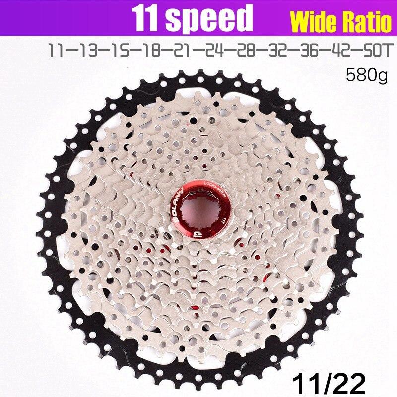 Bolany volante da bicicleta 11 s 11-40 42 46 50t tipo de cartão mtb moutainbike 11 velocidade roda dentada do volante peças para m7000