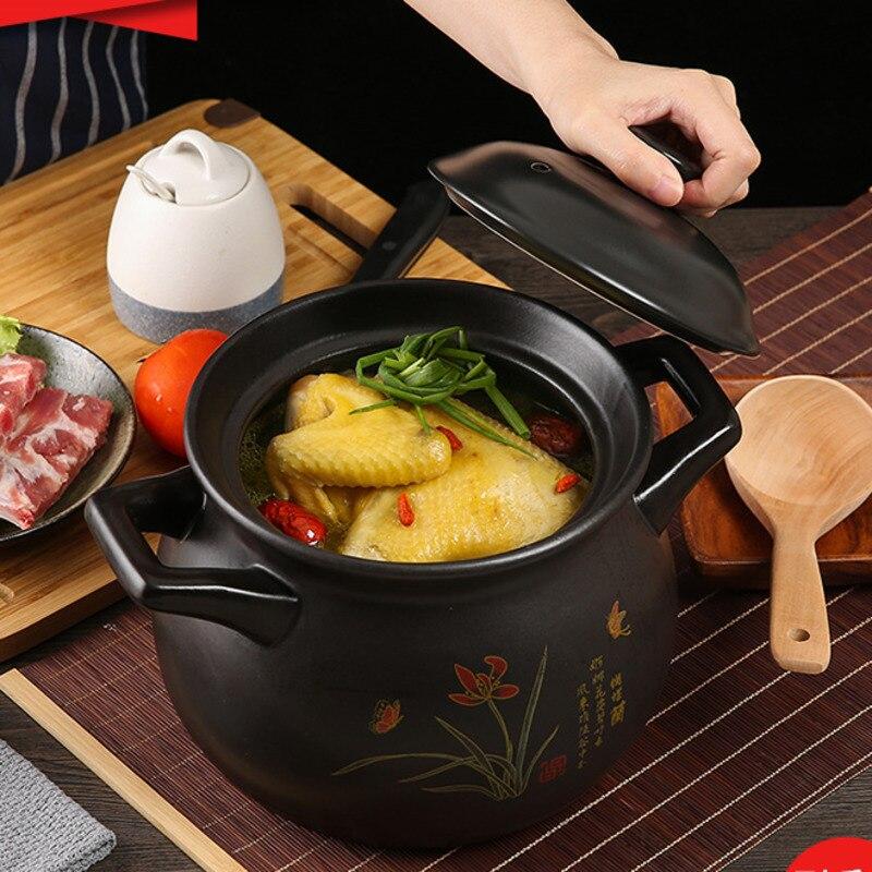 وعاء خزفي صغير لشوربة الغاز ، وعاء خزفي خاص مقاوم لدرجات الحرارة العالية ، وعاء من الحجر الصحي