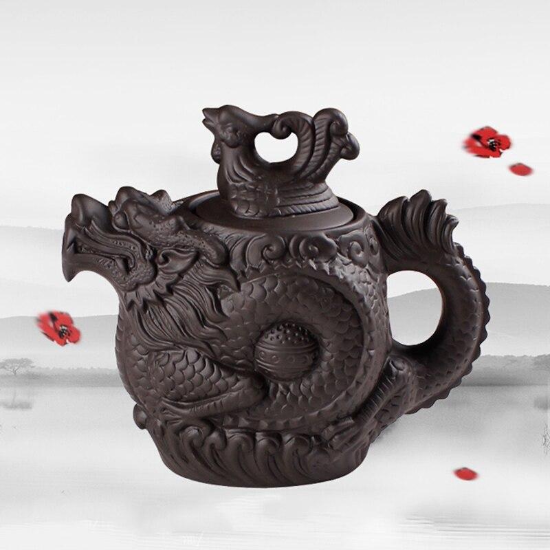 Yixing-إبريق شاي من الطين الأرجواني ، إبريق شاي صيني تقليدي Dragon And Phoenix ، غلاية شاي فاخرة ، طقم شاي من الطين الأرجواني ، عرض خاص