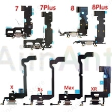 AiinAnt Original USB Port Charger Dock Connector Mic Charging Flex Cable For iPhone 7 8 Plus Xs Max