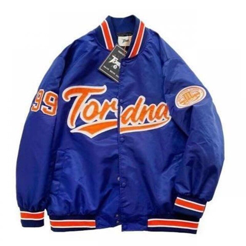 Куртка-бомбер женская однобортная, теплая бейсбольная брендовая одежда с прострочкой, Повседневная Верхняя одежда в полоску, осень