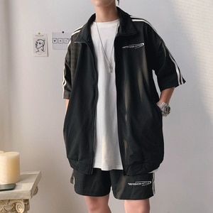 Summer New Casual Sports Suit Men and Women Short-sleeved Student Couple Sportswear Two-piece Class Suit Customization