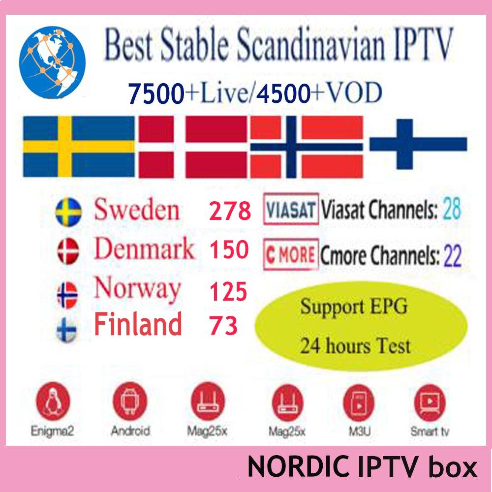 2020 Best stable Scandinavian IPTV Nordic IPTV for Sweden Norway Finland Denmark UK USA for Android ios m3u smart tv TVIP box