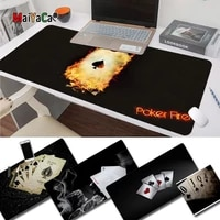 maiyaca cool new cool poker with fire silicone largesmall pad to mouse game free shipping large mouse pad keyboards mat