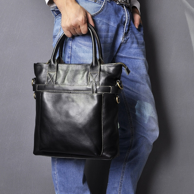 Original Leather Men Design Casual College Shoulder Messenger Crossbody bag Fashion Mochila Satchel