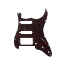 Musiclily Pro 11 trous Strat HSS guitare Pickguard pour américain/mexicain Fender Stratocaster Floyd Rose pont coupe, 4Ply tortue