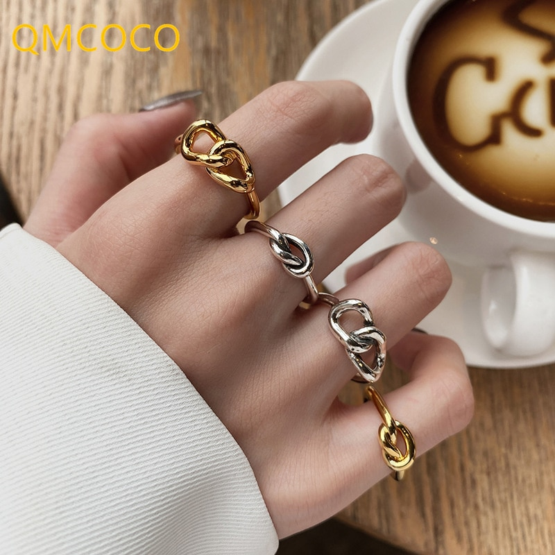 qmcoco-простые-925-серебряные-перстни-2021-новые-модные-креативные-перстни-крест-в-форме-сердца-узел-геометрические-ювелирные-изделия-для-вечери