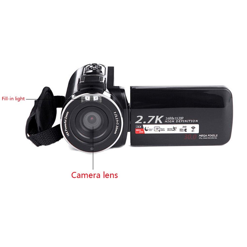 16X WIFI Digital Camera Portable Night Vision Digital Camcorder HDMI 4K Photo Professional 2.7K Video Camera