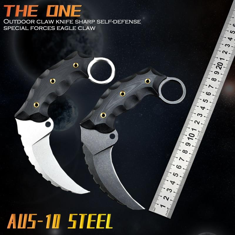Aus-10 الصلب G10 عدم الانزلاق مقبض الخنزير مخلب النسر سكين Kydex غمد الصيد في الهواء الطلق التكتيكية الدفاع أدوات دائم CSGO سكين