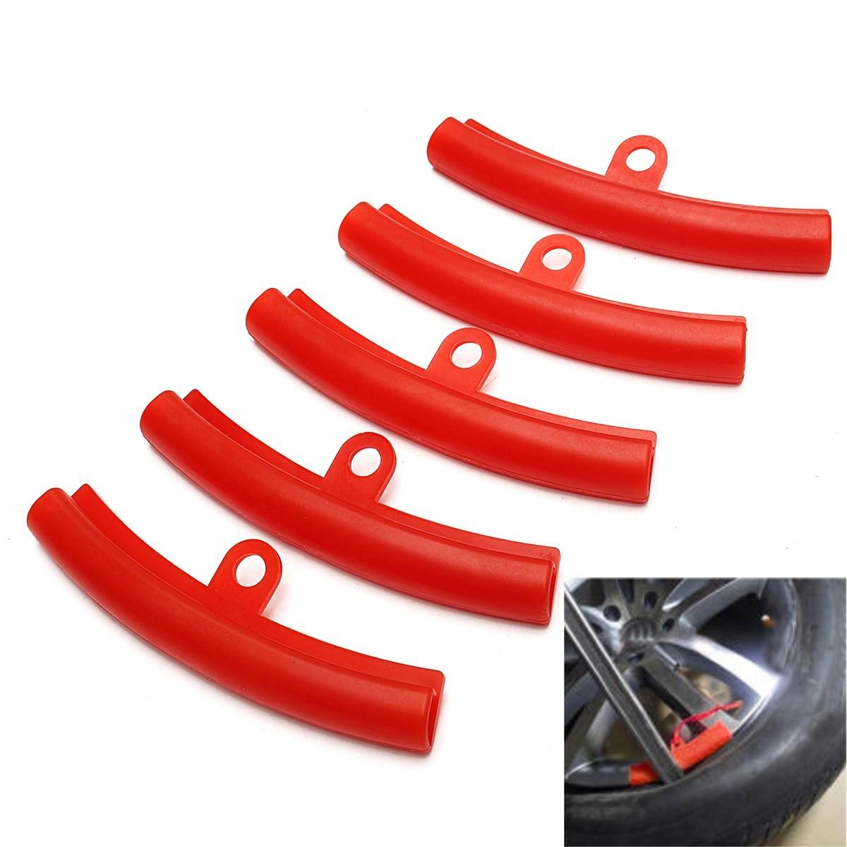 5 unids/set coche Protector de llantas llanta de rueda de neumático de cambiar borde de protección herramientas de polietileno de goma