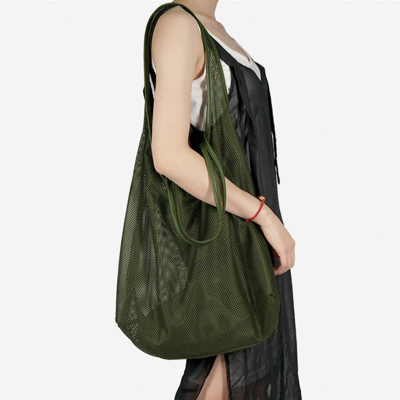 2020 Модные женские прозрачные сумки-сеточки, летние пляжные композитные сумки, большие вместительные женские модные сумки через плечо, bolsa ...
