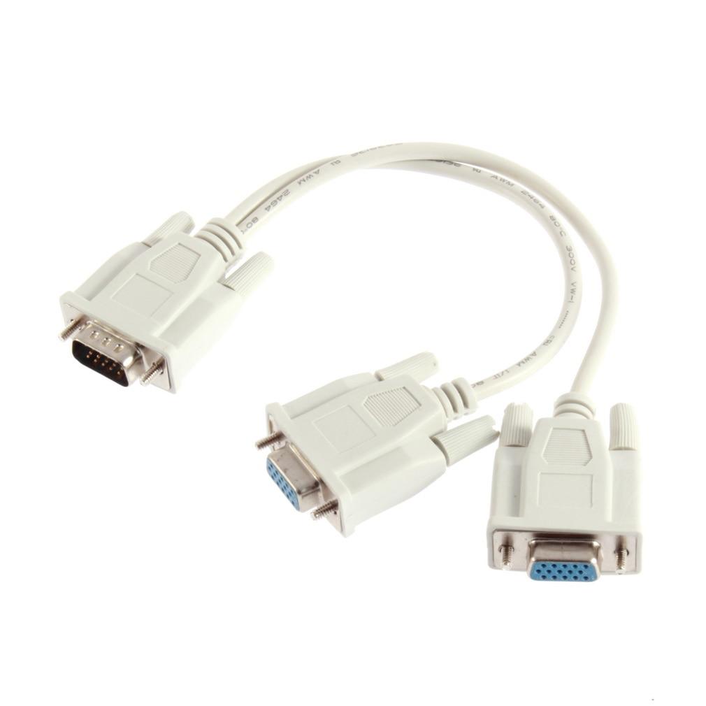 1 macho VGA a 2 hembra Cable divisor VGA 2 Monitor VGA...