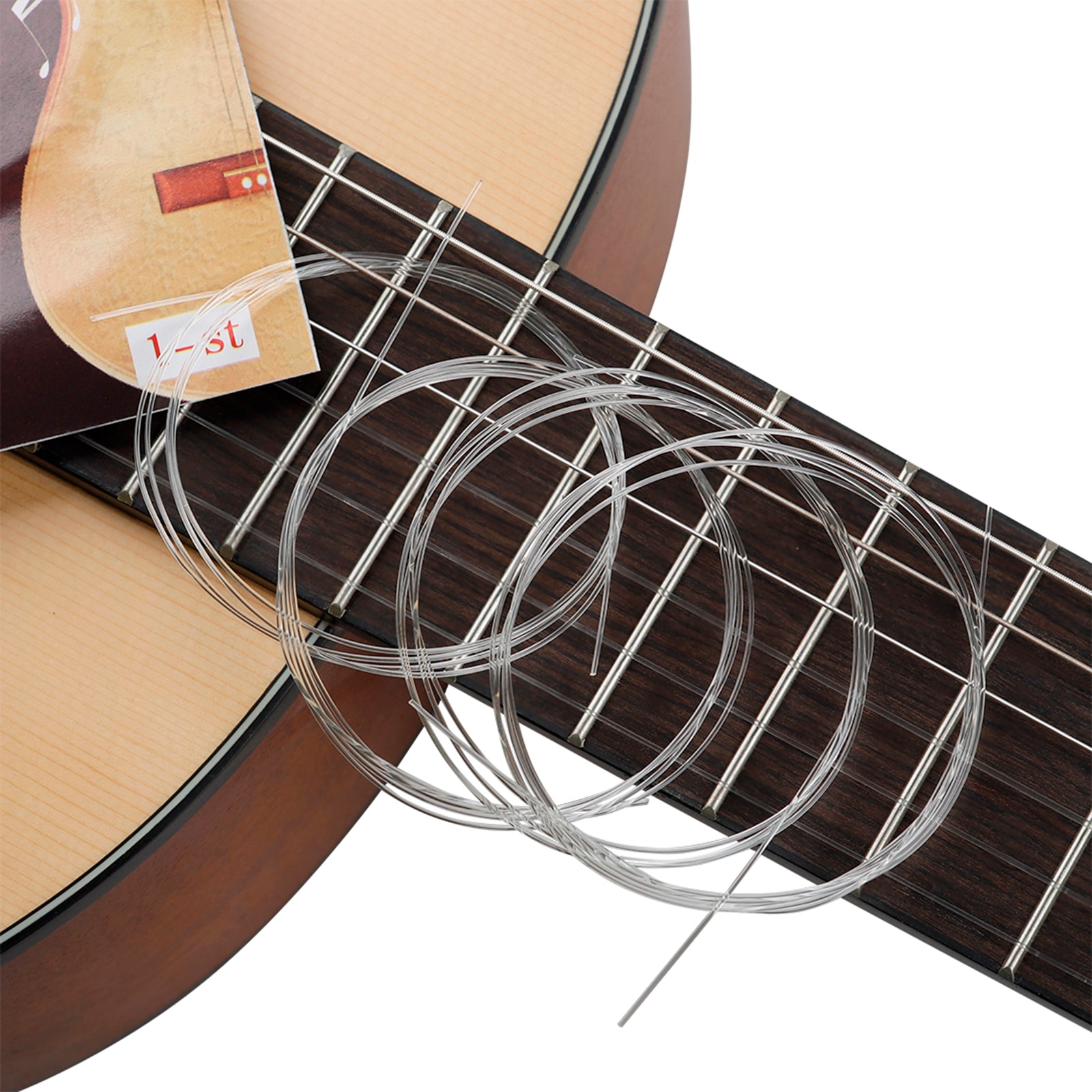 100Pc Classical Guitar Professional Nickel Copper Wound Nylon String E-1st Luthier for Classic Guitar
