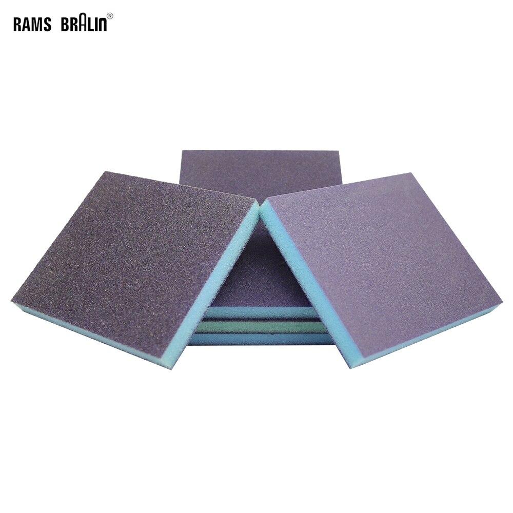 20 piezas 120*98*13mm esponja de papel de lija Hi-Flex bloque de pulido de madera muebles de pulido herramienta de acabado de mano