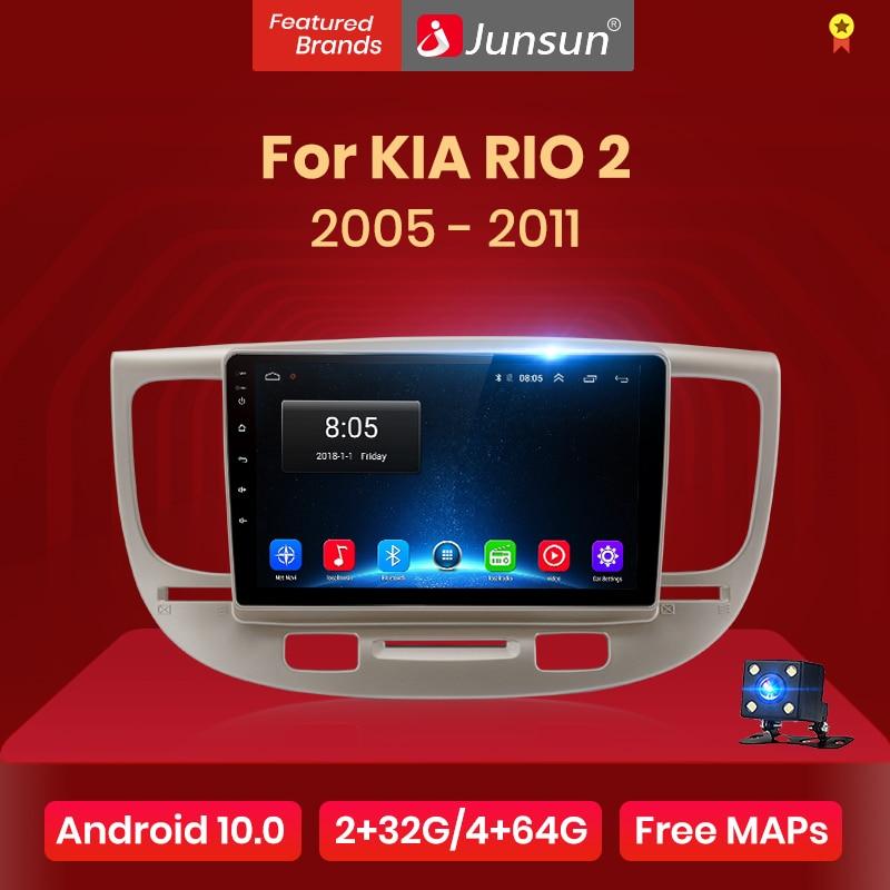 Junsun V1 2G + 32G Android 10,0 RDS Für Kia RIO 2 RIO2 2005 - 2011 Auto Radio multimedia Video Player Navigation GPS 2 din dvd