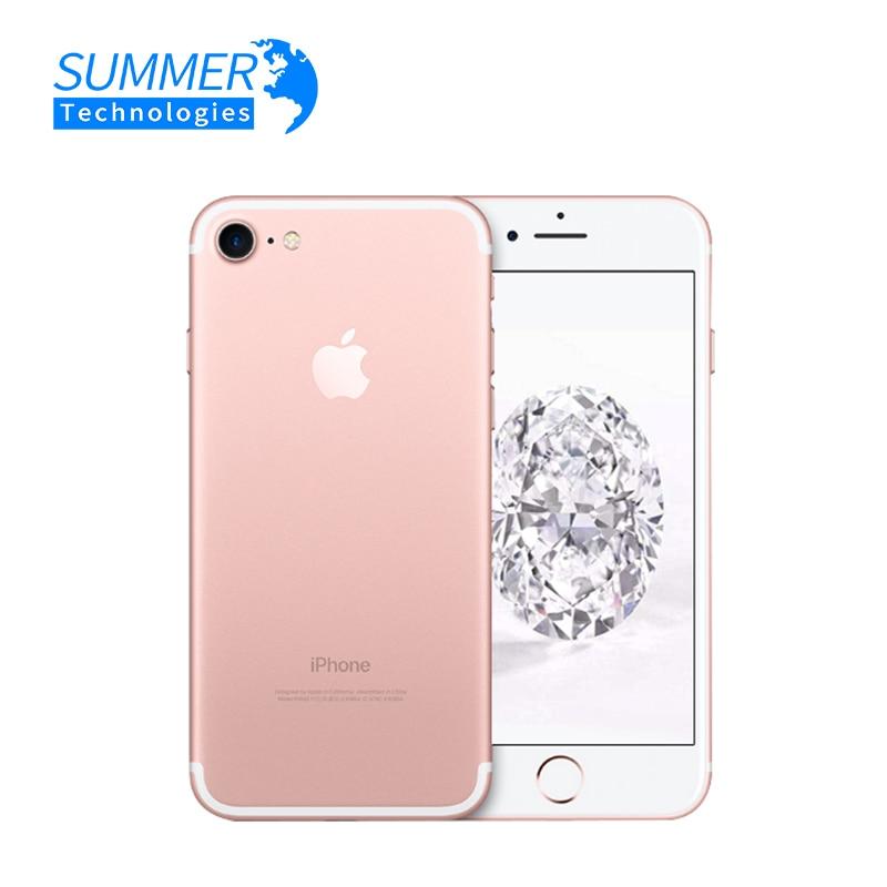 Оригинальный Смартфон Apple iPhone 7, четырёхъядерный Мобильный телефон Apple iPhone 7, камера 12,0 МП, IOS LTE, 4G, сканер отпечатка пальца, б/у