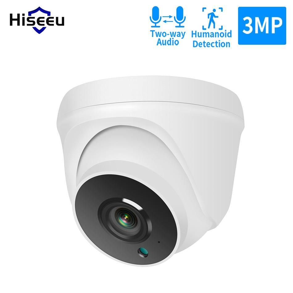Hiseeu 1536P 3MP домашняя купольная WIFI ip-камера 2-сторонняя Аудио Безопасность Видео наблюдение для Hiseeu беспроводная безопасность камера система