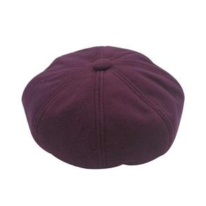 Autumn Women Hats Solid Plain Octagonal Newsboy Winter Cap Ladies Casual Warm Winter Beret Female Caps