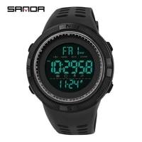 sanda mens watch sports fashion chronos countdown mens waterproof digital watch military clock relogio masculino p2003