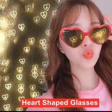1PC Heart Shaped Love Effects at Night Eye Glasses Change Love Heart Lights Diffraction Eyeglasses U