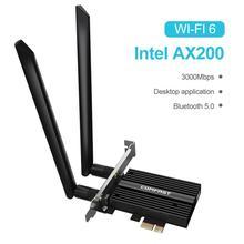 Sans fil 3000Mbps PCIe double bande Wi-Fi 6 adaptateur Intel AX200 Bluetooth 5.0 réseau Wifi carte 802.11ac/ax 2.4G 5G pour ordinateur de bureau