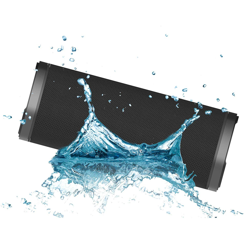 Rok urbano preto l poderoso do portátil do orador com oradores sem fio de bluetooth + jack + sd poderosos