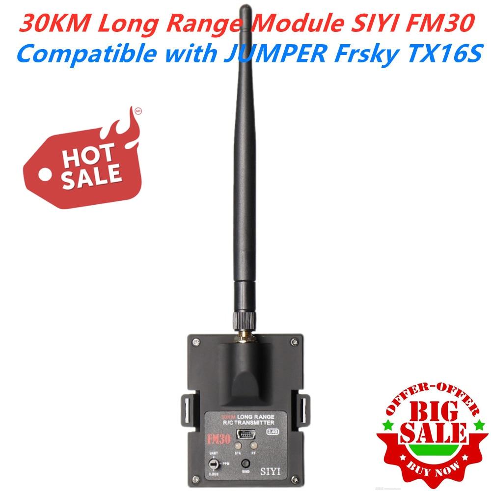 30 كجم طويلة المدى SIYI FM30 راديو وحدة مع داتالينك القياس بلوتوث استقبال OpenTX سباق الطائرات بدون طيار 2.4G FM30 الارسال