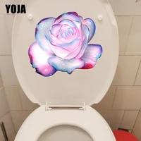 YOJA     autocollants de fleurs roses de reve  23 5CM    20 4CM  a la mode  pour toilettes  decoration murale de la maison  T1-2661