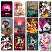disney mickey animation plaza kindergarten wall art picture print forest animal painting nordic kids baby bedroom decoration