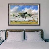 Peinture retro classique T060  16 affiches en soie personnalisees  operations de vol davion de guerre  Art mural de decoration de maison  cadeau de noel