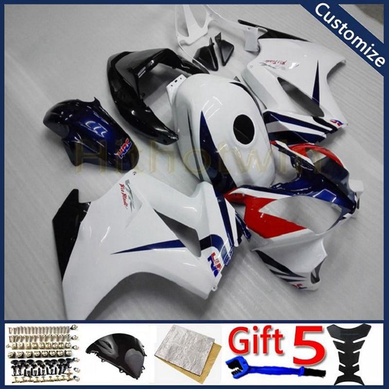 دراجة نارية الطربوش ل VFR800 2002 2003 2004 2005 2006 2007 2008 2009 2010 2011 2012 VFR 800 دراجة نارية هدية بدن الأزرق الأبيض