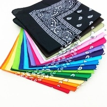 Bandana Kerchief Man Women Hair Band Neck Scarf Sports Headwear Wrist Wraps Head Square Scarves Prin