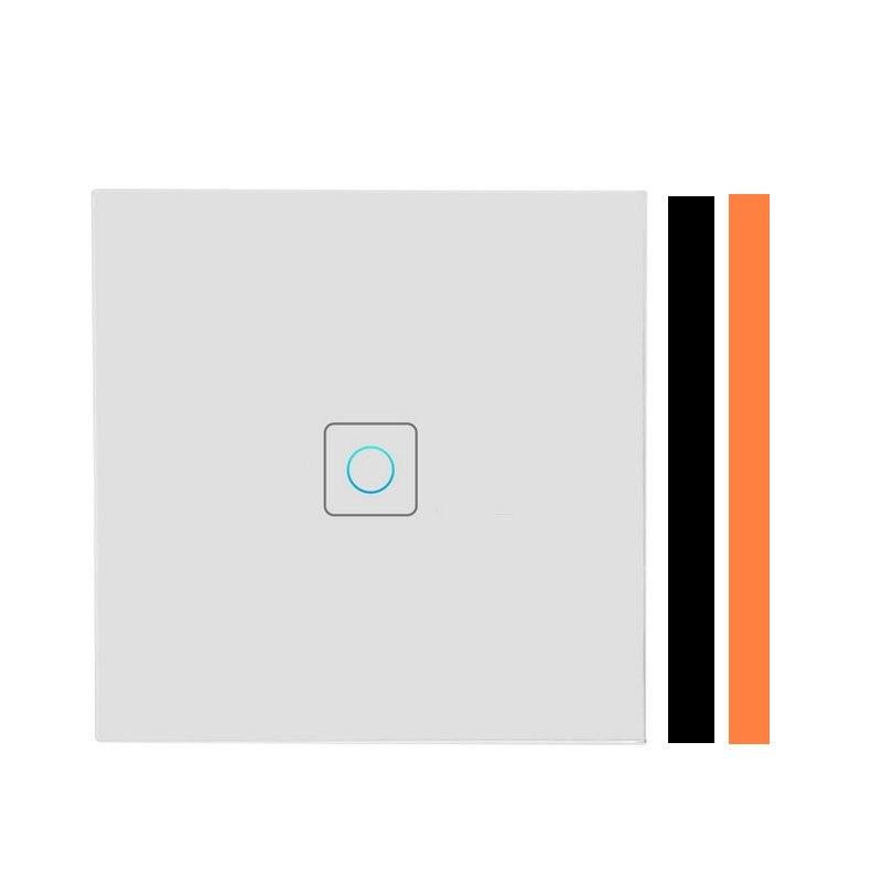 Touch Schalter EU/UK Standard Weiß Kristall Glas Panel Sensor Schalter 220V 1 Gang 1 Weg, wand Touchscreen Schalter Für Led-leuchten