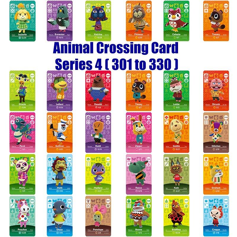 Amiibo Card NS игровая серия 4 (301 до 330) карточка для скрещивания животных