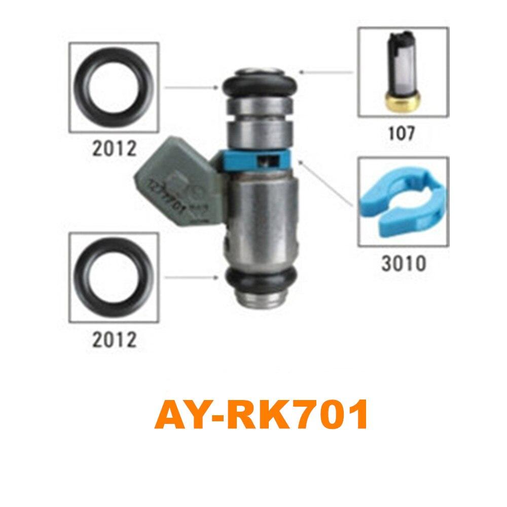 40 unids/set kit de reparación de inyector de combustible para peugeot citroen fiat IWP006 IWP099 IWP065 60657179 9627771580 226cc/m (AY-RK701)