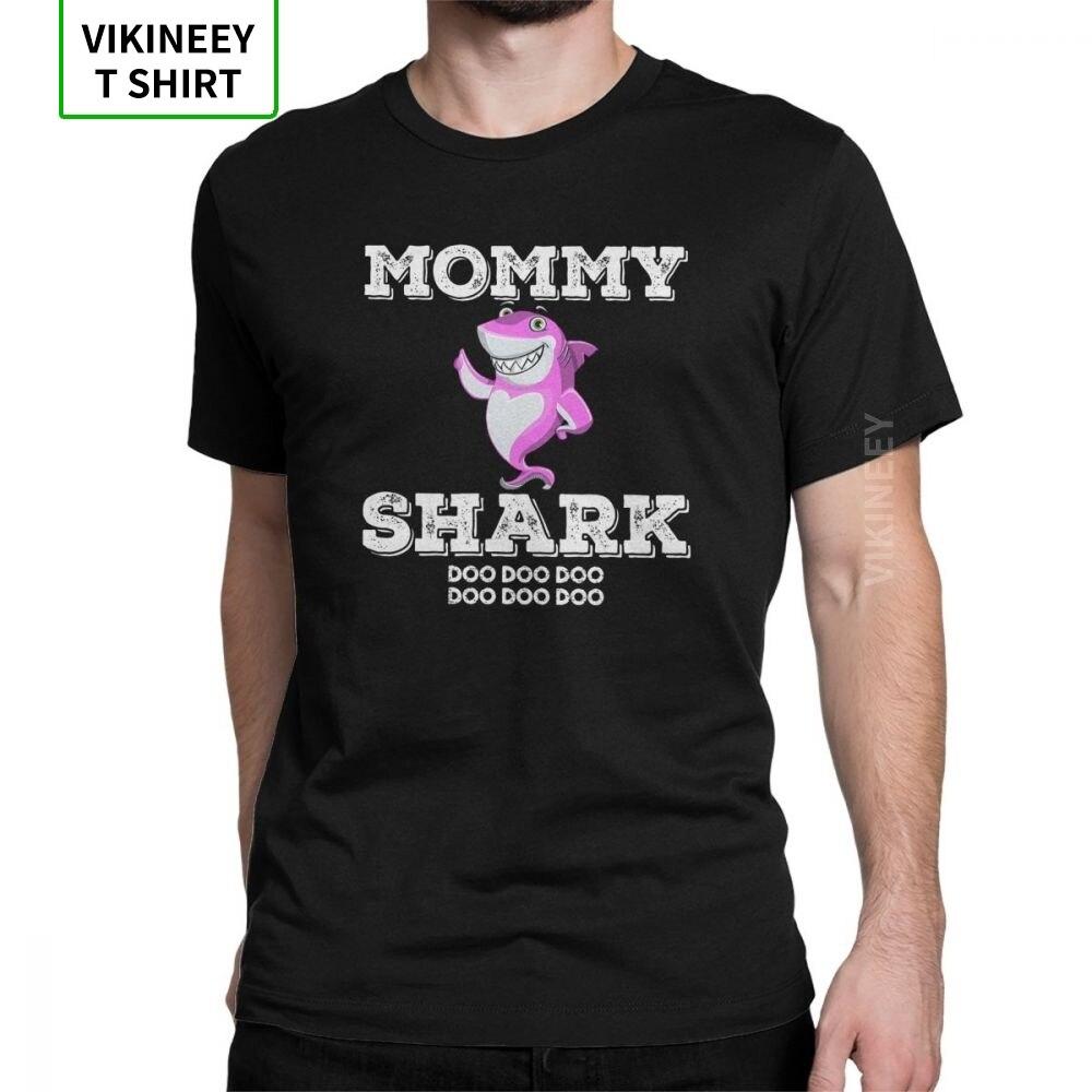Man T Shirts Mommy Shark T Shirt Doo Doo Tee Shirt Matching Family Leisure Short Sleeve Tops 100% Cotton Plus Size T-Shirt