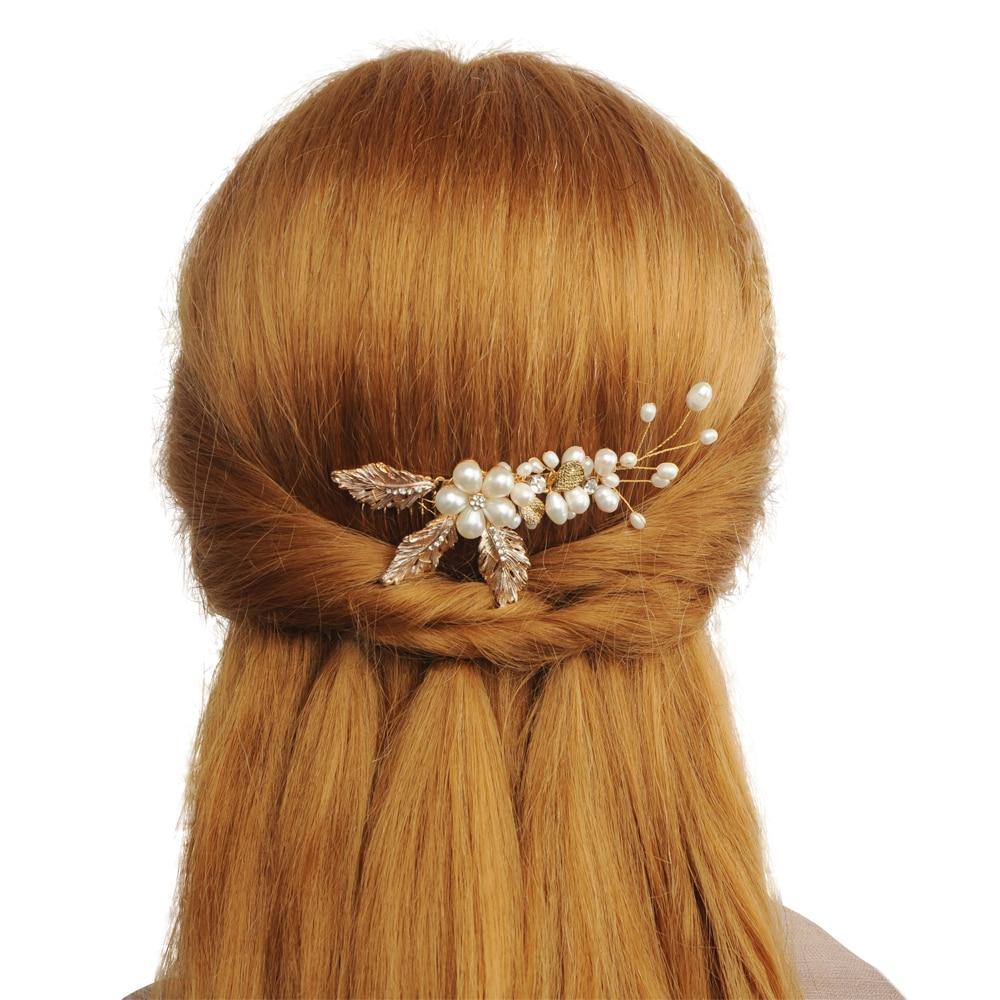Peines TRiXY H17 elegantes para el pelo de boda para novia, diamantes de imitación, perlas para mujer, horquillas, tocado nupcial, accesorios de joyas para el pelo