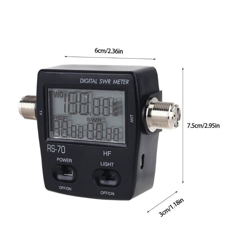 NISSEI RS-70 Digital SWR Power Meter Counter Micro USB-DC 5V Output 1.6-60MHz WXTB enlarge