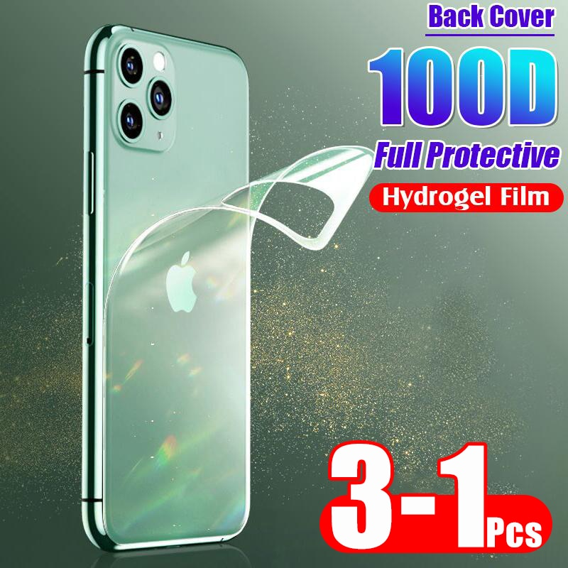 100D Zurück Schutzhülle Hydrogel Film Abdeckung Für IPhone 11 Pro 6 6s 8 7 Plus XR X XS Max volle Screen Protector Film Nicht Glas