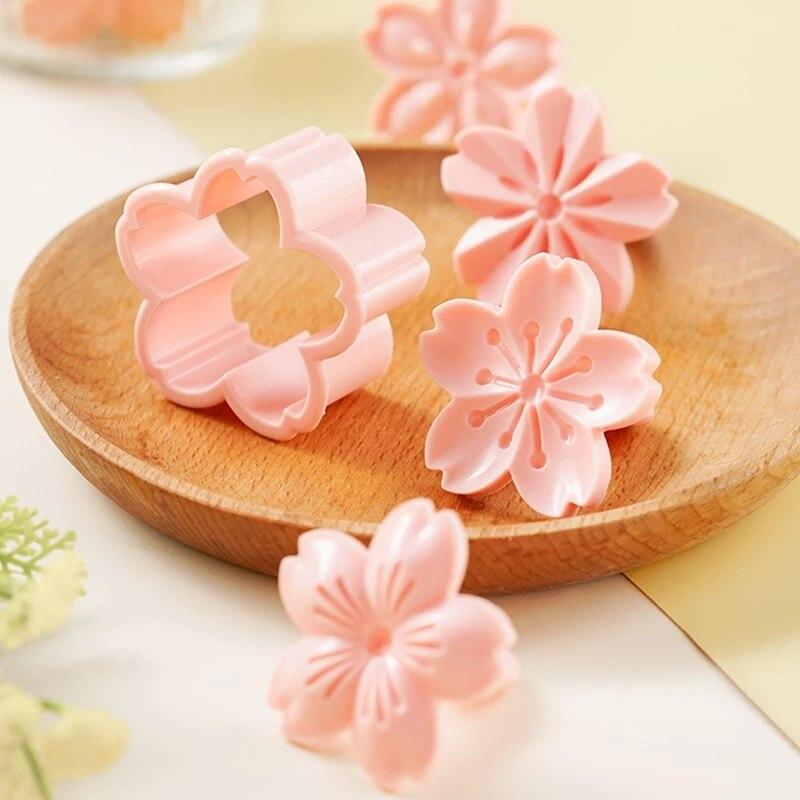 5 шт./компл. порошок цветущей вишни, резак плунжера, Кондитерские украшения, инструменты для выпечки помадки
