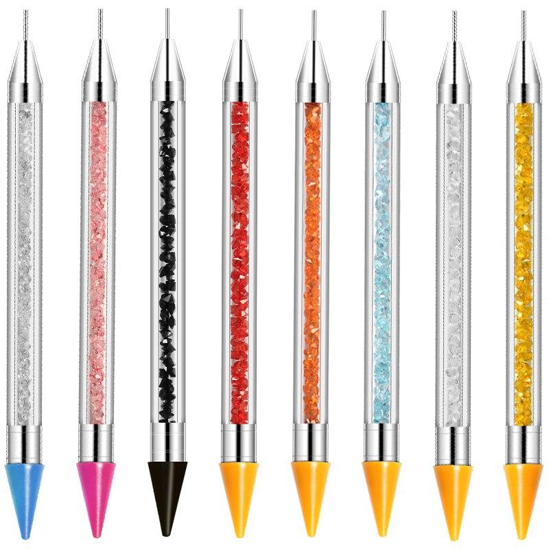 Cyshmily nova caneta de pontilhar picker up strass studs picker cera lápis de cristal contas de madeira lidar com ferramenta de arte do prego