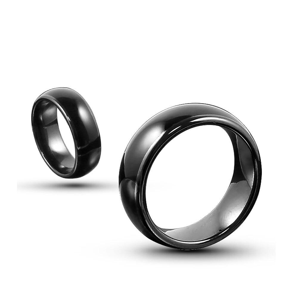15 unids/lote RFID 13,56 MHZ UID chip negro ceramica dedo inteligente anillo desgaste para hombre o mujer