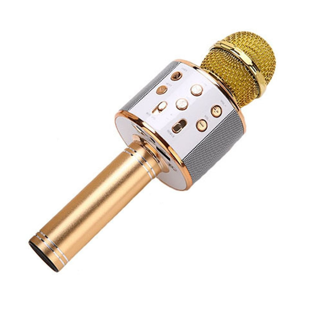 KTV Wireless Karaoke Handheld Microphone USB Player Mic Speaker Portable Christmas Birtay Home Party