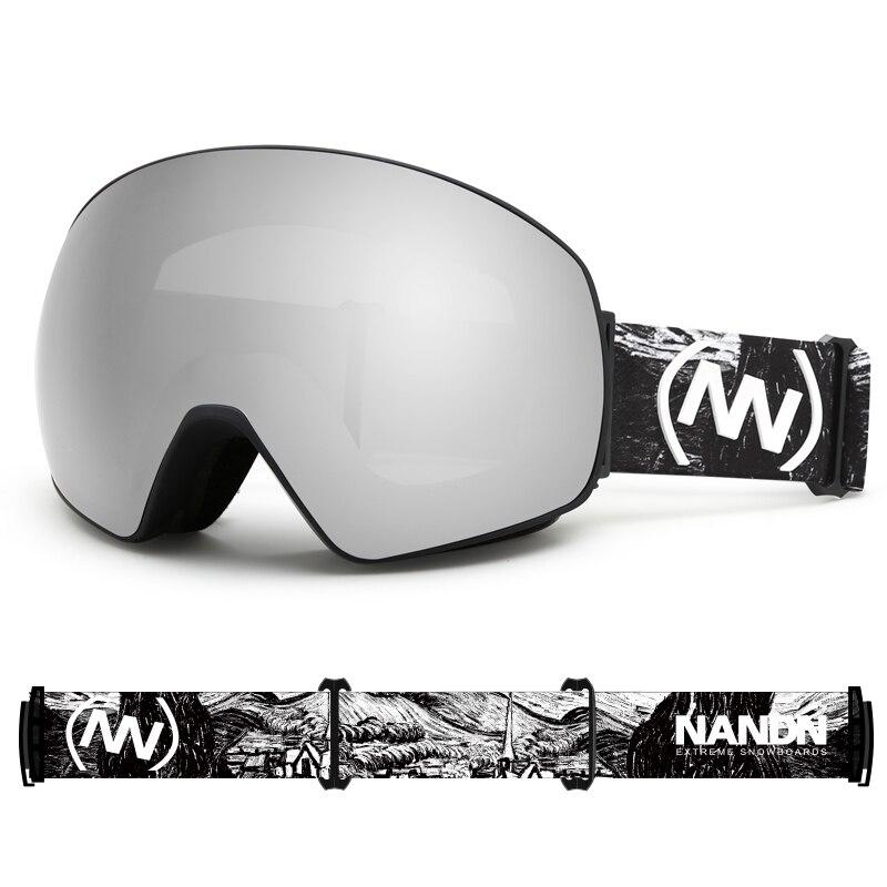 2021 New Double Layer Ski Goggles Aldult Anti-Fog Skiing Eyewear Men Women Safety Ski Goggles Outdoor Sports Glasses Equipment