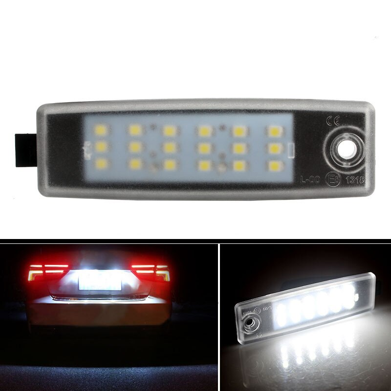 2 uds LED para matrícula de coche luces 12V 6000k bombilla Kit para Toyota Vanguard ACA33W HIACE 200 Accesorios