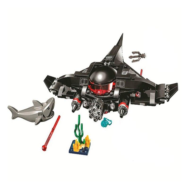 Compatible Lepining DC Super Heros Aquaman Black Manta Strike Children Building Blocks Bricks Educational Model Toys Kids Gifts